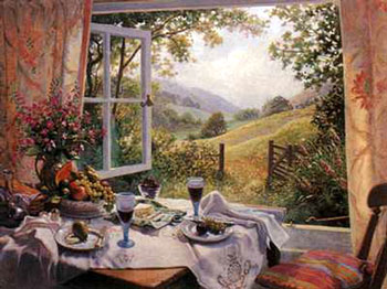 summer lunch by an open window-stephen darbishire-allposters.jpg (35239 bytes)